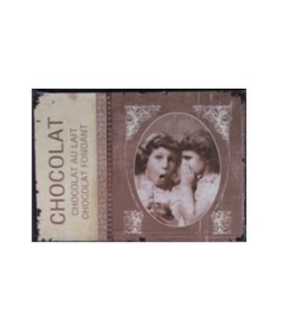Nostalgische Metalen Wandbord Chocolat