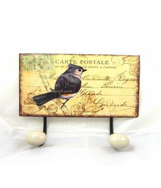 Wandhaak Ansichtkaart Vogel