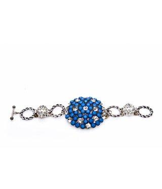Bijou Gio Design™ Bracelet White Opal Starshine Crystal Blue