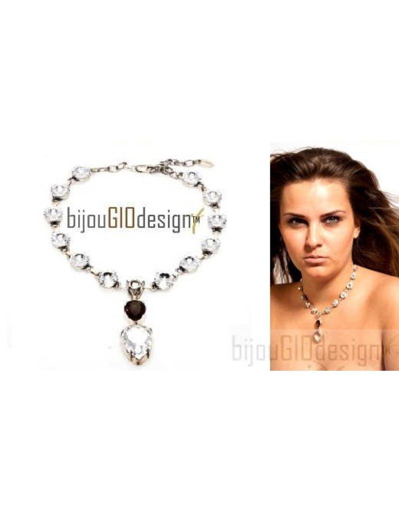 Bijou Gio Design™ Brown Crystal Necklace