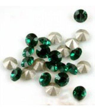 1028 Swarovski Chaton Pointed Back SS20 - Emerald