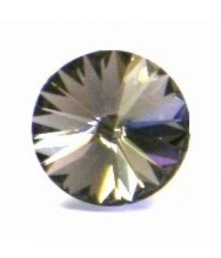 1122 Swarovski Rivoli Pointed Back SS29 - Black Diamond