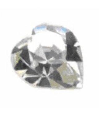 4800 Swarovski Heart - Crystal