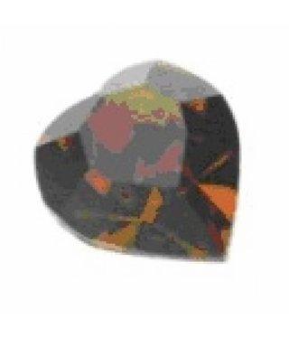 4800 Swarovski Heart - Smoked Topaz