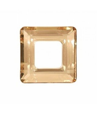 4439 Swarovski Square Ring - Golden Shadow