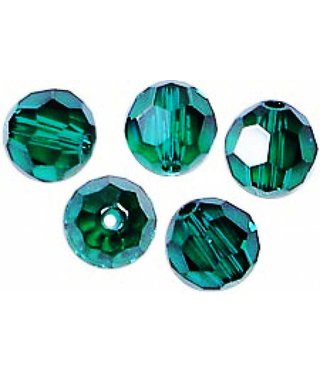 5000 Swarovski Faceted Round Beads - Emerald