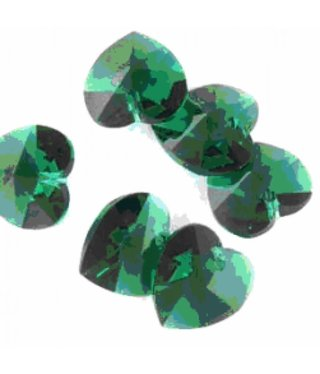 6202 Swarovski Heart Pendant - Emerald