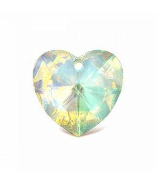 6202 Swarovski Heart Pendant - Crystal AB
