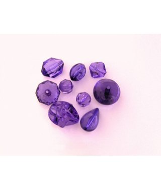 Assorted Plastic Beads - Purple