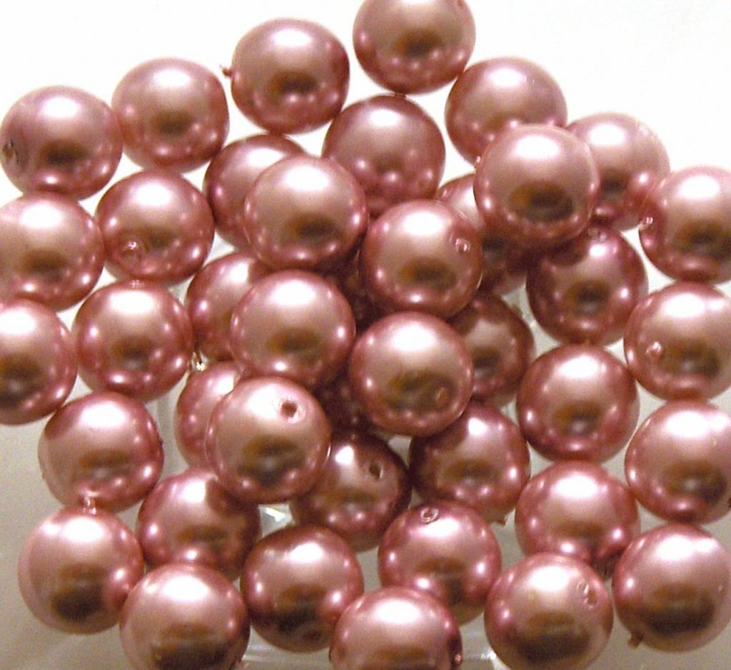 Glas Parels 8 mm - Pink