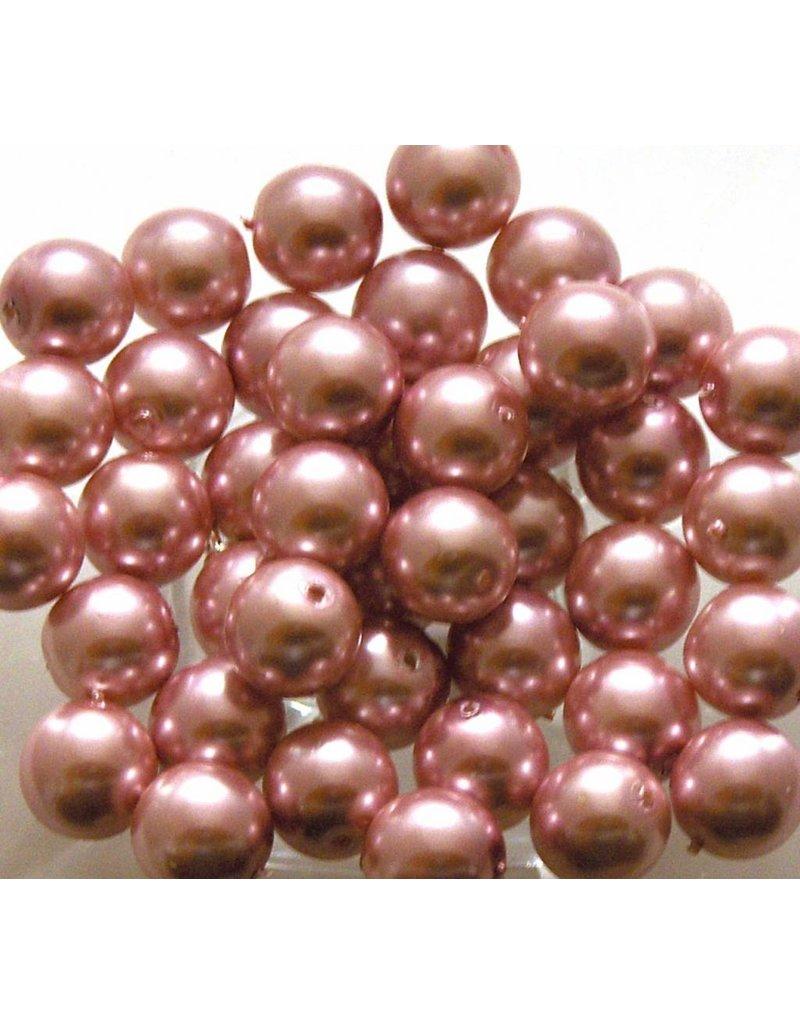 Glas Parels 6 mm - Pink