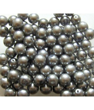 Glass Pearls 8 mm - Steel