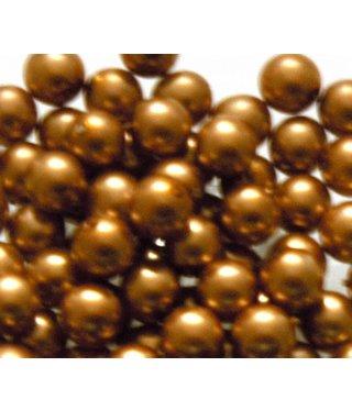 Glas Parels 8 mm - Copper