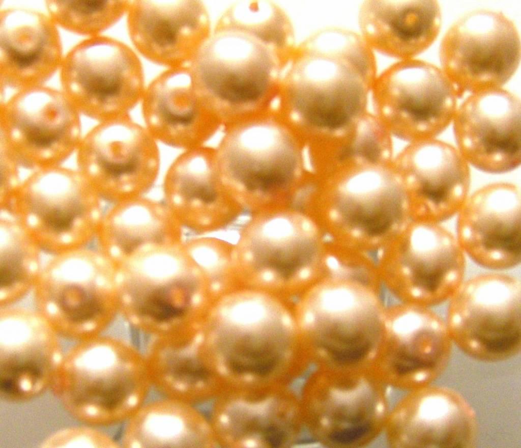 Glas Parels 8 mm - Pale Salmon