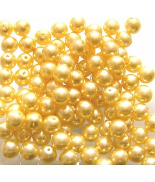 Glass Pearls 6 mm - Ivory