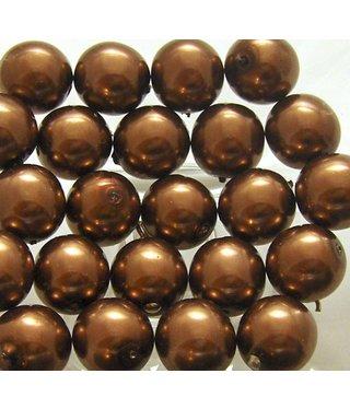 Glass Pearls 12 mm - Bronze