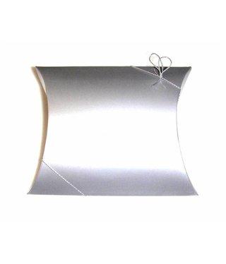 Folding box 10 cm x 12 - Matte Silver  - 5 pieces