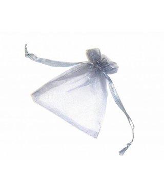 Organza Bags 9 x 7 cm - Silver Grey - 5 pieces
