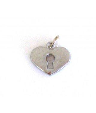Charm Heart with Key Hole