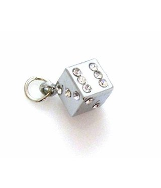 Charm Dice with Rhinestones