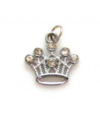 Charm Pointed Crown with Rhinestones