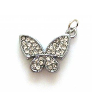 Charm Butterfly with Rhinestones