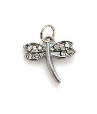 Charm Dragonfly with Rhinestones