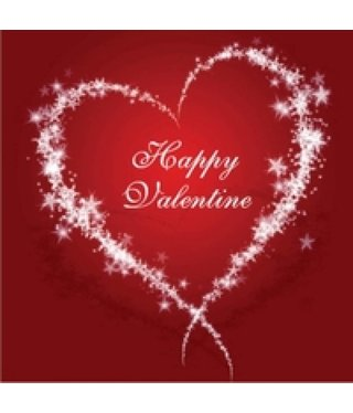 Valentine Heart Gift Tag - Red