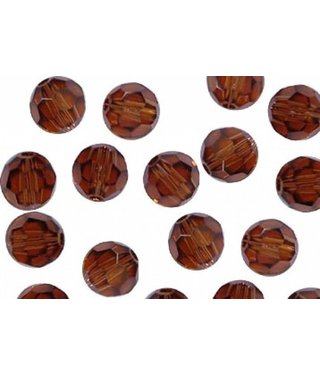 5000 Swarovski Faceted Round Beads - Smoked Topaz