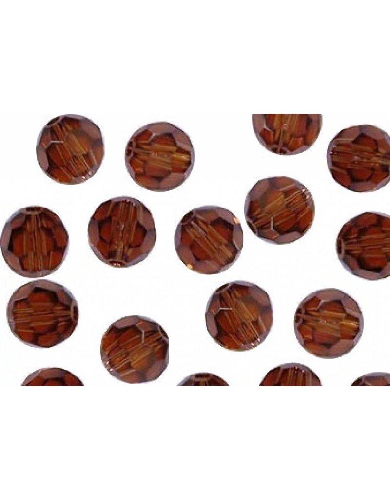 5000 Swarovski Faceted Round Beads -  Smoked Topaz