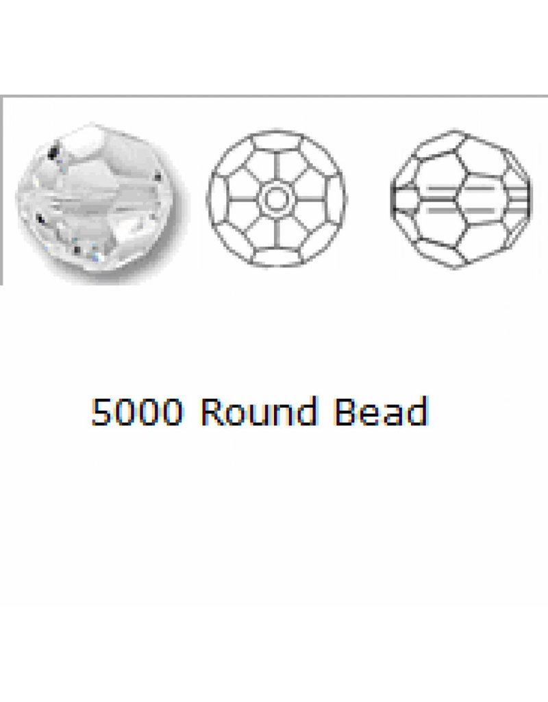 5000 Swarovski Faceted Round Beads - White Opal