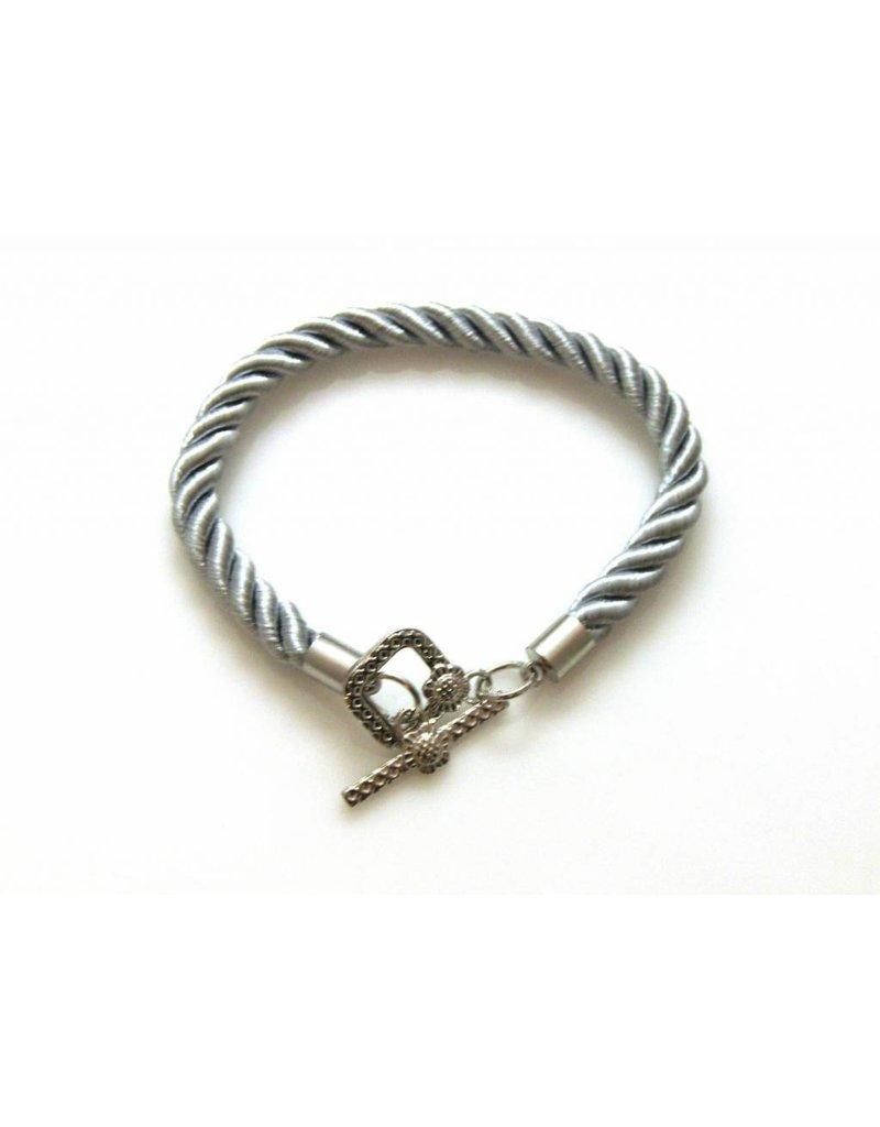 Armband Koord - Zilvergrijs - 3 stuks