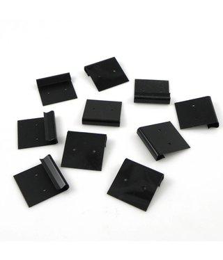 Kunststof Oorhanger Kaartje - Zwart - 10 stuks