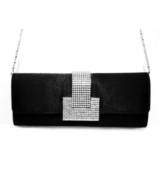 Black Evening Bag L-Strass