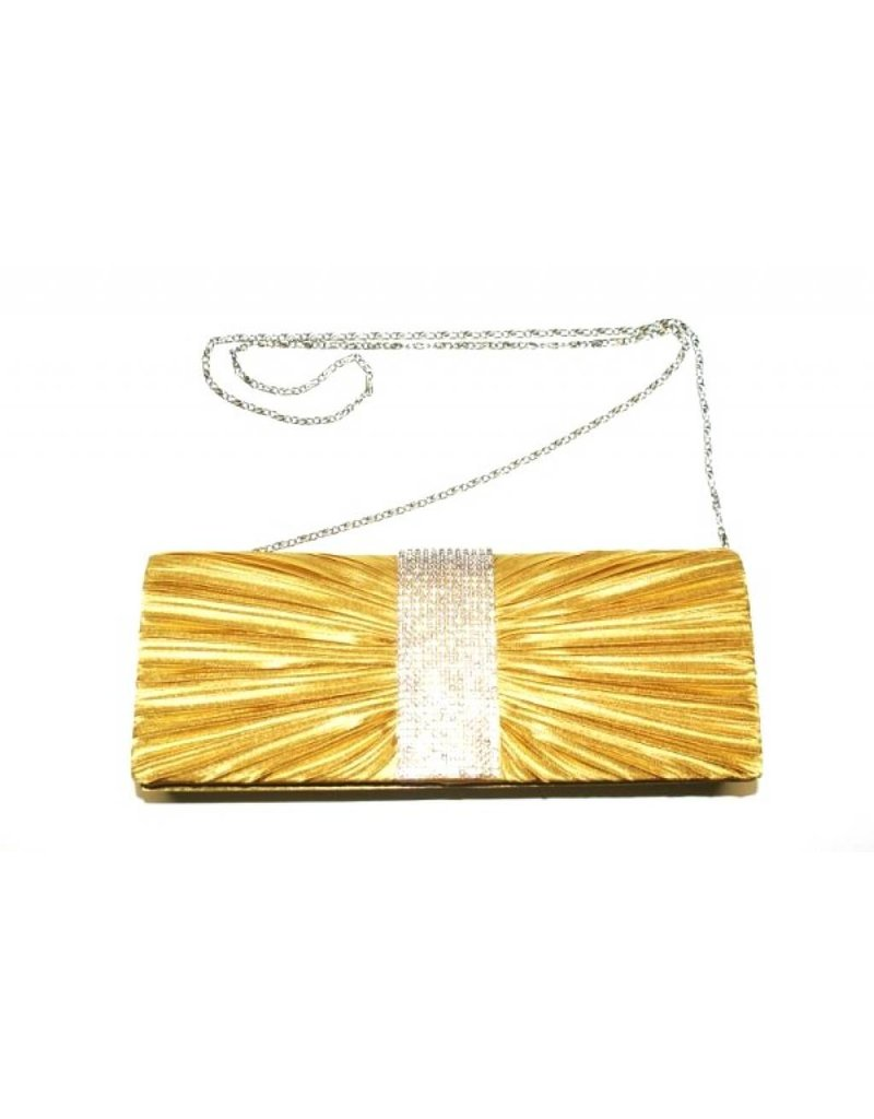 Gold Evening Bag I-Strass