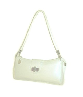 Creme Color Leather Handbag