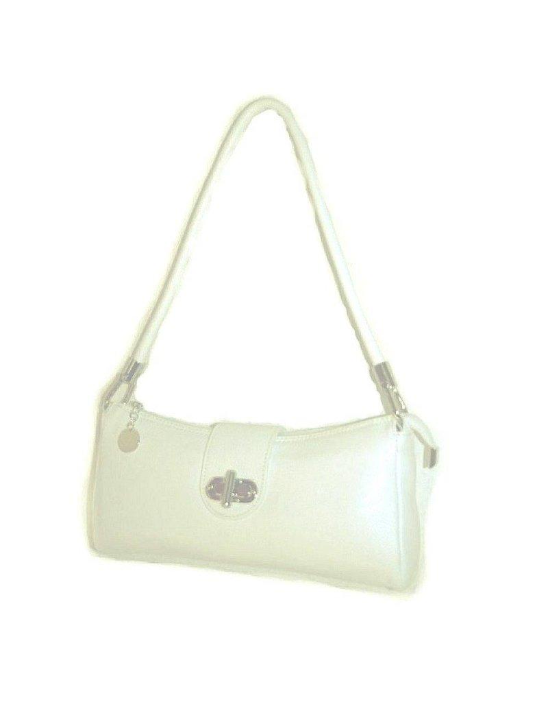 Creme Color Leather Handbag