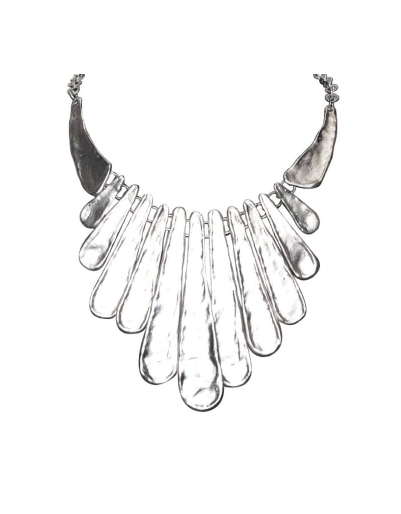 White Silver Metal Necklace