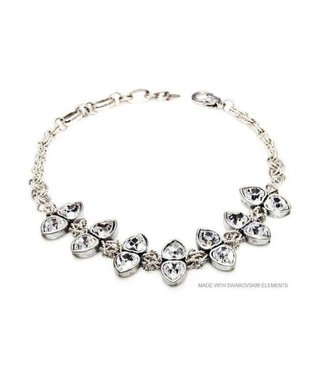 Bijou Gio Design™ Necklace Double Crystal Hearts