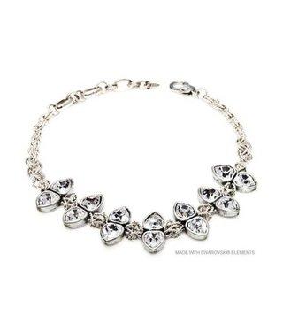 Bijou Gio Design™ Necklace Double Crystal Hearts