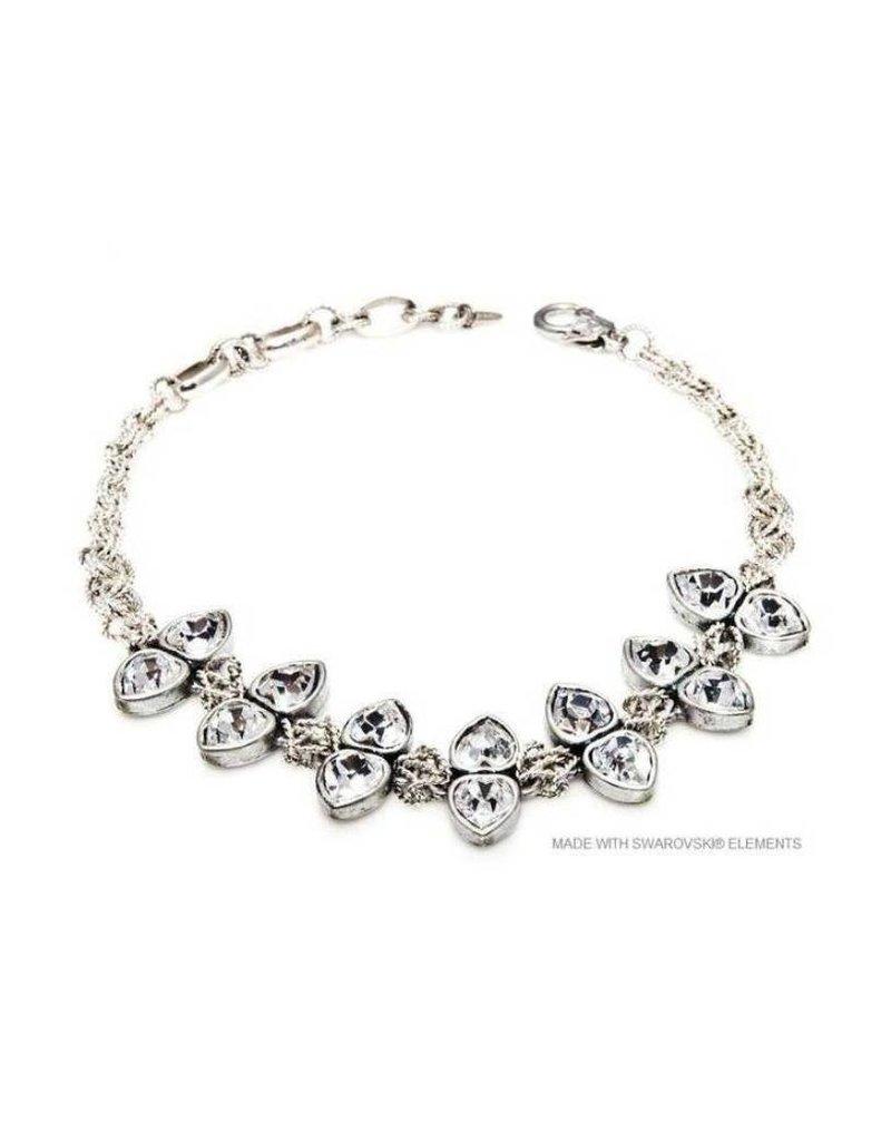 Bijou Gio Design™ Double Crystal Hearts Necklace