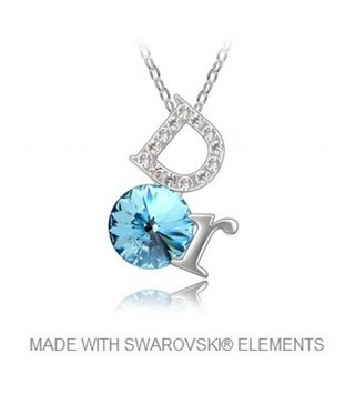 Pendant DOR with Swarovski Elements and Necklace