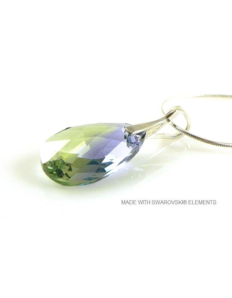 4294d9c62 Bijou Gio Design™ Silver Necklace with Swarovski Elements Pear-Shaped