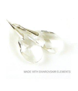 "Bijou Gio Design™ Zilveren Oorringen met Swarovski Elements Pear-Shaped ""Crystal"""