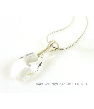 "Bijou Gio Design™ Zilveren Ketting met Swarovski Elements Pear-Shaped ""Crystal"""