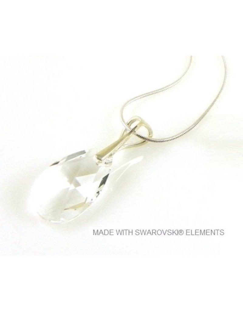 ace4dec18 Bijou Gio Design™ Silver Necklace with Swarovski Elements Pear-Shaped
