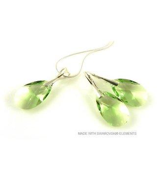 "Bijou Gio Design™ Set 925 met Swarovski Elements Pear-shaped ""Peridot"""