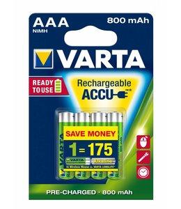 Varta Rechargeable Battery AAA 800mAh (4-pack)