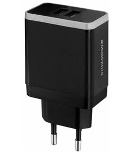 Mobiparts Mobiparts Wall Charger Dual USB 2.4A Black