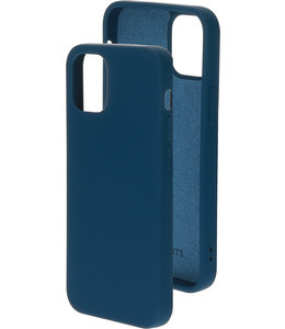 Mobiparts Mobiparts Silicone Cover Apple iPhone 12 Mini Blueberry Blue